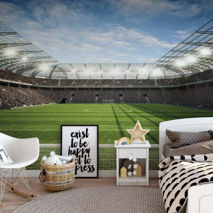 Football stadium wall mural photo wallpaper non-woven